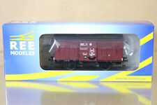 REE MODELES WB-264 SNCF PLM COUVERT CLOSED GOODS VAN WAGON 142536 Ep II ng