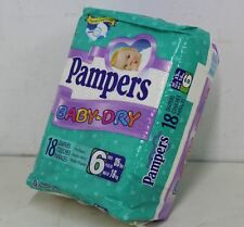 VIntage adult baby Pampers SIZE 6 Plastic diapers sealed pack alte windeln ABDL