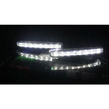 2X Universal Car 8 LED DRL Driving Daytime Running Day LED Light Head Lamp Super