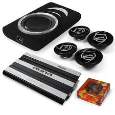 4.1 CAR AUDIO SET 10,000W AMPLIFIER SPEAKERS UNDERSEAT SUBWOOFER & ALL CABLES