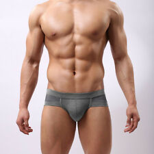 Trunks Sexy Underwear Deal Bid Briefs Shorts Bulge Pouch Strong Gray Color L