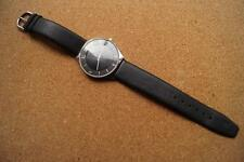 SUPERB SLIMLINE UNISEX WATCH,LEATHER STRAP IN TIN OF ISSUE L@@K