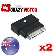 2x 30Pin Dock Extender Connector Adapter Male- Female F iPhone 4 4S iPad 2 iPod