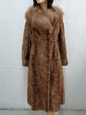 MINT CANADIAN PASTEL MINK & FOX FUR COAT JACKET WOMEN WOMAN SIZE 2-4 PETITE