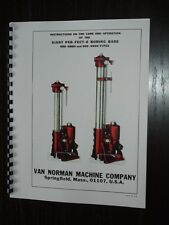 Van Norman Model 888 & 999 Boring Bar Manual ( Giant Per-Fect-O )