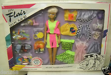 #3088 NRFB Vintage Totsy Ms Flair 100 Piece Doll, Fashions & Accessories Giftset