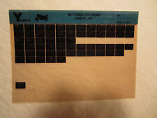 1986 Yamaha Motorcycle TT 600 S Off Road RMicrofiche Parts Catalog TT600S