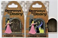 Disney Doorway Sleeping Beauty Aurora & Maleficent Hinged 3-D Pin LE 4000 NEW
