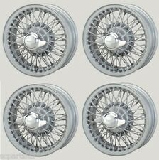 NEW SET OF 4 TRIUMPH GT6, SPITFIRE HERALD PAINTED WIRE WHEEL 4.5J X 13 60 SPOKES