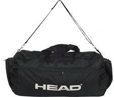 Large Sport Travel Holdall Luggage Carry Gym Duffle Football Cargo bag Black 60L