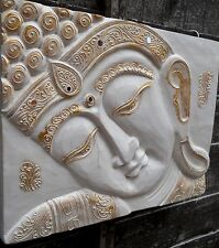 AMAZING CARVED WOOD THAI BUDDHA FACE WALL ART PLAQUE SIZE 30 cm x 40 cm Decor