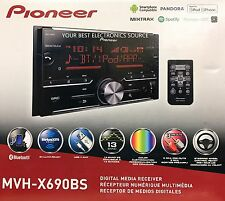 NEW Pioneer MVH-X690BS Mechless Bluetooth In-Dash Digital Media Car Stereo