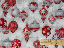 Holiday Flourish Christmas Ornament Kaufman Fabric by the 1/2 Yard  #15760-186