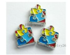 10PCS Autism awareness Floating Charms Fits For Glass Living Memory Locket FC154