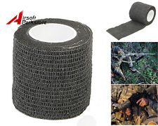 5CMx4.5M Military Hunting Rifle/Gun Wrap Outdoor Camping Stealth Tape Black