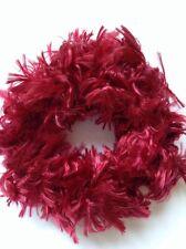 A Red Teddy Bear Fur Hair Scrunchie/Bobble