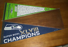 2 2014 SEATTLE SEAHAWKS SUPER BOWL XLVIII CHAMPIONS DIFFERENT PENNANTS - NEW