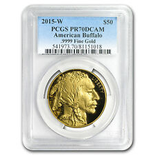 2015-W 1 oz Proof Gold Buffalo Pr-70 Pcgs - Sku #102423