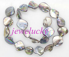 14mm-21mm baroque shell mother of pearl loose beads 14 inches choose color