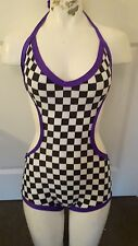 Contagious Clubwear Racer Romper Medium EDM Rave Dancer Cyber Outfit