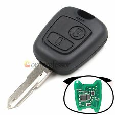 New Remote Key 433MHz With ID46 Chip 2 Button for Peugeot 206 Uncut Blade Fob