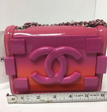 Chanel Purse Pink Hard Small Flap Mini Boy Bag Messenger Nwt $3400
