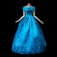 Blue Fashion Yarn Princess Party Dress/Evening Clothes/Gown For 30cm Barbie Doll
