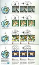 UNITED NATIONS  1989 HUMAN RIGHTS  LOT OF 20   FIRST DAY COVERS