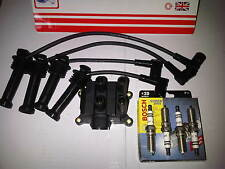 FORD FOCUS MK1 1.4 1.6 16valve 2000-04 IGNITION LEADS + COIL PACK & SPARK PLUGS