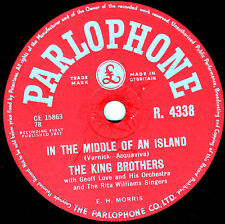 """UK #19 KING BROTHERS 78 """" ROCKIN' SHOES / IN THE MIDDLE OF AN ISLAND"""" R 4338 EX-"""