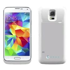 White Samsung Galaxy S5 Extended Battery Backup Power Pack Charger Case/Cover