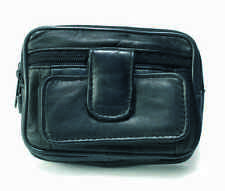 NEW Leather Mens Belt/Wrist BAG WALLET Camera Handy Pockets by Lorenz - 1483