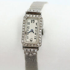 Antique J Lafond Inc. Platinum Art Deco Lady's Diamond Watch