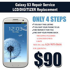 Black or White Samsung Galaxy S3 Repair Service LCD/Digitizer Screen Replacement