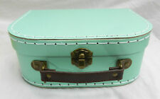 Retro Mint Green Suitcase Style Storage Box - Small - NEW