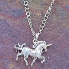925 sterling silver MYTHICAL UNICORN 3D Charm Magical Pendant chain Necklace