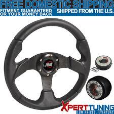 Acura Type 2 320MM Black PVC Racing Steering Wheel+Hub Adaptor+Quick Release Kit