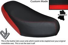 RED & BLACK CUSTOM FITS GILERA SKP STALKER 50 DUAL LEATHER SEAT COVER ONLY