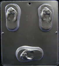"Flip Flop 4"" x 2 1/4"" Mold for Soap or Chocolate Candy Mold 028 NEW"