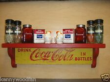 Coca-Cola Wooden Wall Display Shelf -  crafted from original 1960's soda cases