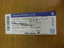 16/01/2016 Autographed Ticket: Chelsea v Everton  - Hand Signed By John Hollins