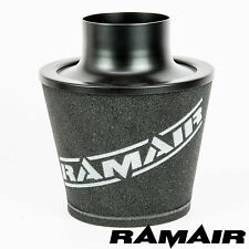 RAMAIR BLACK LARGE ALUMINIUM INDUCTION AIR FILTER 100mm NECK NISSAN SKYLINE