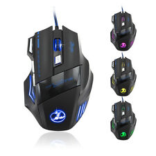 5500 DPI 7 Button LED Optical USB Wired Gaming Mouse Maus Mice For Pro Gamer Neu