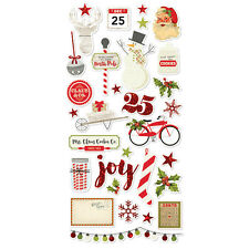Nuevo simple Stories Navidad Claus y co aglomerado stiickers