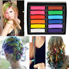 Small Size 12 Colors Non-toxic Temporary Salon Kit Pastel Square Hair Chalk New