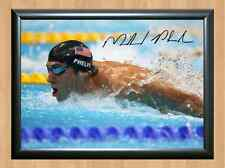 Michael Phelps Olympics Signed Autographed A4 Print Photo Poster Memorabilia US