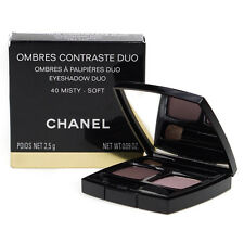CHANEL OMBRES CONTRASTE EYESHADOW DUO COMPACT CASE #40 MISTY - SOFT 2.5G