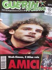 Guerin Sportivo 39 1996 [gs.25] Weah Simone il Milan Vola -