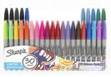 Brand new: Sharpie Electro Pop 30 Limited Edition Set Colour+black Marker Pens