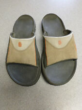 TEVA Tan and Gray Suede and Nylon, Slide Sandals Men's 12 (eur 46)